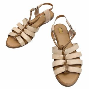 Chloe Leather Strappy Sandals in Tan
